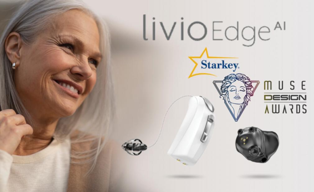 Starkey Livio Edge AI Wins 2021 MUSE Design Award